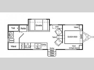 Floorplan - 2004 Northwood Arctic Fox 25 R
