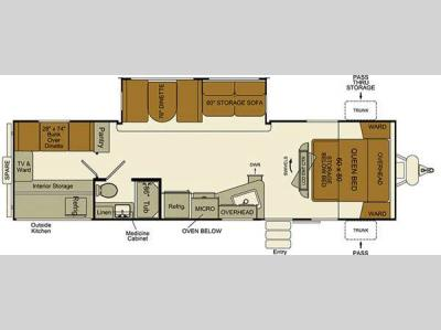 Floorplan - 2015 EverGreen RV i-Go G280QB
