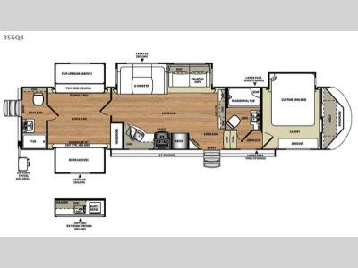 Floorplan - 2015 Forest River RV Salem Hemisphere Lite 356QB