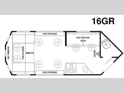 Floorplan - 2015 Forest River RV Ice Cave 16GR