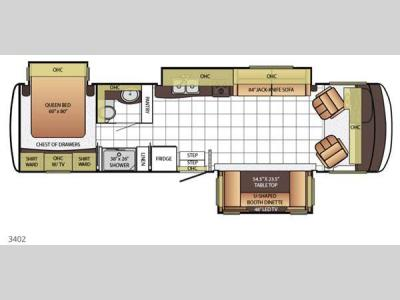 Floorplan - 2015 Newmar Bay Star 3402