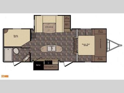 Floorplan - 2015 CrossRoads RV Sunset Trail Super Lite ST240BI