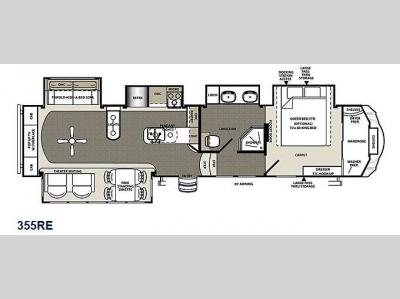 Floorplan - 2015 Forest River RV Sierra 355RE