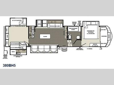 Floorplan - 2015 Forest River RV Sierra 380BH5