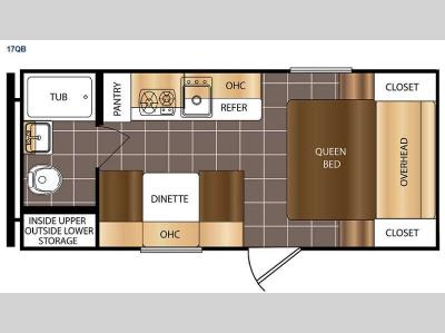 Floorplan - 2015 Prime Time RV Avenger ATI 17QB