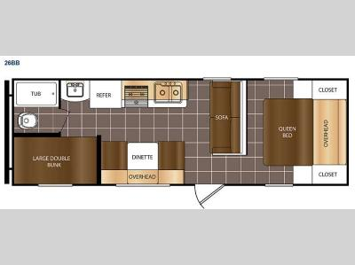 Floorplan - 2015 Prime Time RV Avenger ATI 26BB