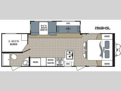 Floorplan - 2015 Dutchmen RV Kodiak 286BHSL Express