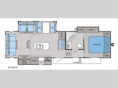 Floorplan - 2015 Jayco Eagle HT 28.5RSTS