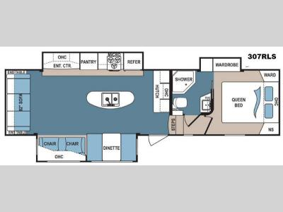 Floorplan - 2015 Dutchmen RV Denali 307RLS