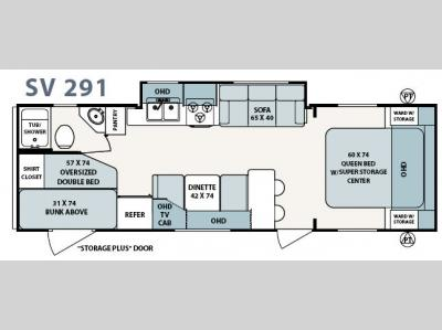 Floorplan - 2007 Forest River RV Surveyor SV 291
