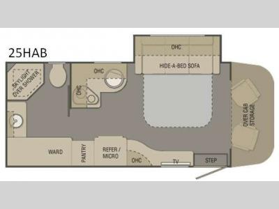 Floorplan - 2015 Renegade Villagio 25HAB