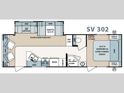 Floorplan - 2007 Forest River RV Surveyor SV 302