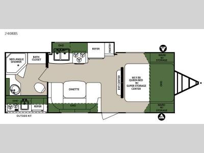Floorplan - 2015 Forest River RV Surveyor 240RBS