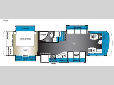 Floorplan - 2015 Forest River RV Berkshire 34QS