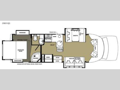 Floorplan - 2015 Forest River RV Forester Grand Touring Series 2801QS Ford