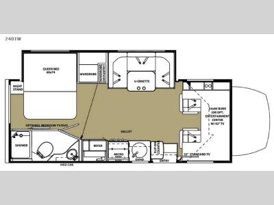 Floorplan - 2015 Forest River RV Forester MBS 2401W