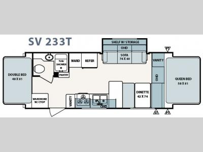 Floorplan - 2006 Forest River RV Surveyor SV 233T