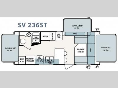 Floorplan - 2006 Forest River RV Surveyor SV 236ST