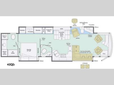 Floorplan - 2015 Itasca Ellipse 42QD