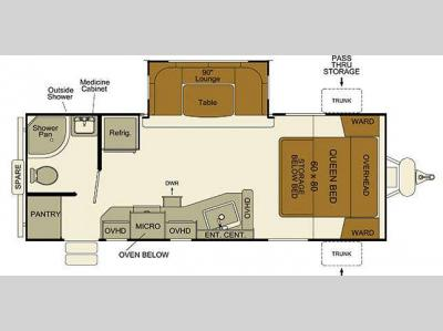 Floorplan - 2015 EverGreen RV i-Go G235RB