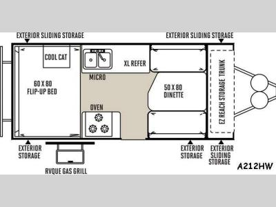 Floorplan - 2015 Forest River RV Rockwood Hard Side Series A212HW