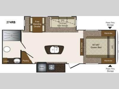 Floorplan - 2015 Keystone RV Laredo 274RB