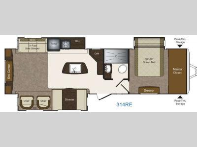Floorplan - 2015 Keystone RV Laredo 314RE