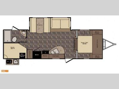 Floorplan - 2016 CrossRoads RV Sunset Trail Super Lite ST270BH