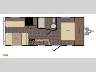 Floorplan - 2016 CrossRoads RV Z 1 ZT211RD