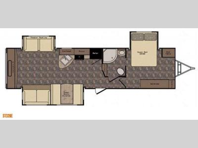 Floorplan - 2016 CrossRoads RV Sunset Trail Reserve ST32RE
