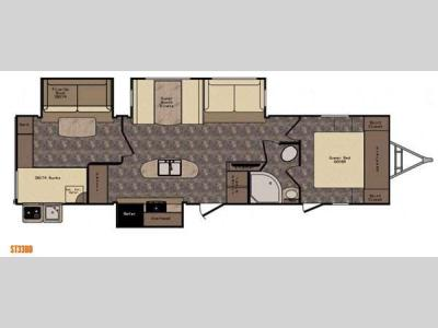 Floorplan - 2016 CrossRoads RV Sunset Trail Reserve ST33BD