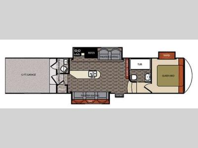 Floorplan - 2015 Forest River RV Work and Play Catalyst 40WTS