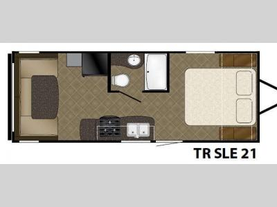 Floorplan - 2016 Heartland Trail Runner 21SLE