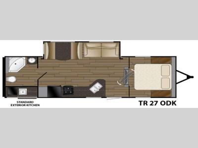 Floorplan - 2016 Heartland Trail Runner 27ODK