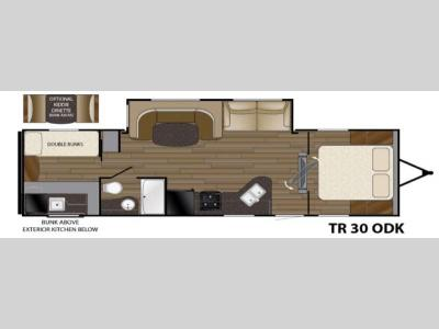 Floorplan - 2016 Heartland Trail Runner 30ODK