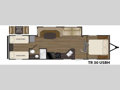 Floorplan - 2016 Heartland Trail Runner 30USBH