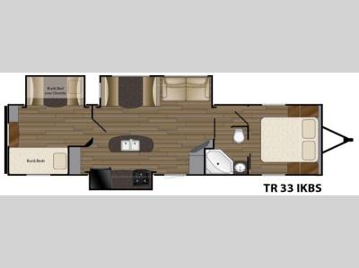 Floorplan - 2016 Heartland Trail Runner 33IKBS
