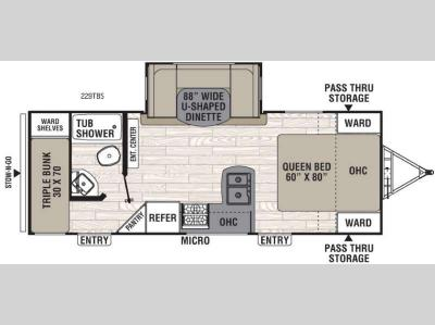 Floorplan - 2016 Coachmen RV Freedom Express 229TBS