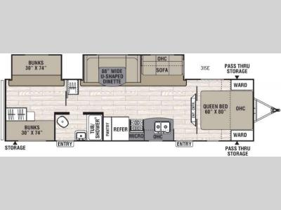 Floorplan - 2016 Coachmen RV Freedom Express 31SE