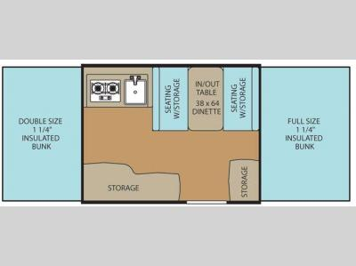 Floorplan - 2016 Coachmen RV Clipper Camping Trailers 106 Sport