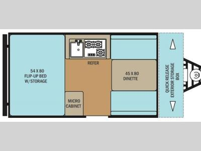 Floorplan - 2016 Coachmen RV Clipper Camping Trailers C12RBST