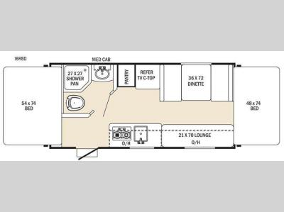 Floorplan - 2016 Coachmen RV Clipper Ultra-Lite 16RBD