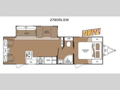 Floorplan - 2015 Dutchmen RV Aspen Trail 2780RLSW