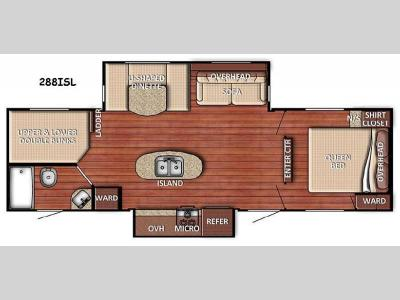 Floorplan - 2016 Gulf Stream RV Conquest 288ISL