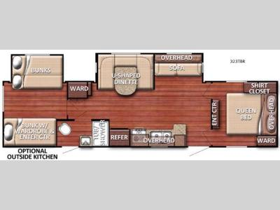 Floorplan - 2016 Gulf Stream RV Conquest 323TBR