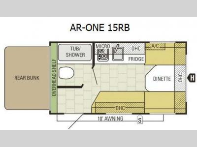 Floorplan - 2016 Starcraft AR-ONE 15RB