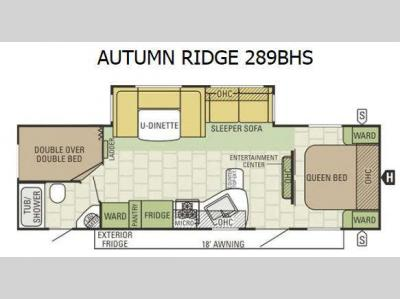 Floorplan - 2016 Starcraft Autumn Ridge 289BHS
