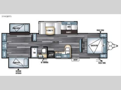 Floorplan - 2016 Forest River RV Salem 31KQBTS
