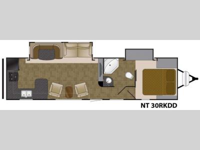 Floorplan - 2016 Heartland North Trail 30RKDD King