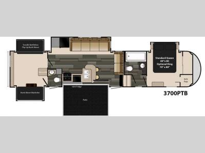 Floorplan - 2016 Heartland Gateway 3700 PTB